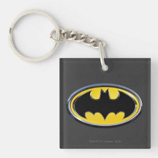 Batman Symbol | Classic Logo Double-Sided Square Acrylic Key Ring