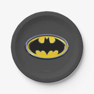 Batman Symbol   Classic Logo Paper Plate