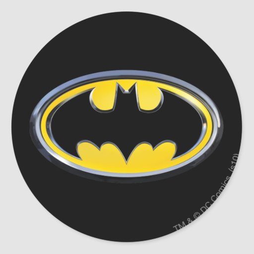 Batman Symbol | Classic Logo Round Sticker