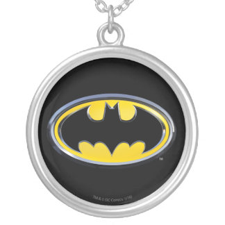 Batman Symbol | Classic Logo Silver Plated Necklace