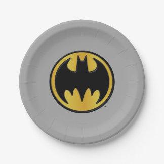 Batman Symbol   Classic Round Logo 7 Inch Paper Plate