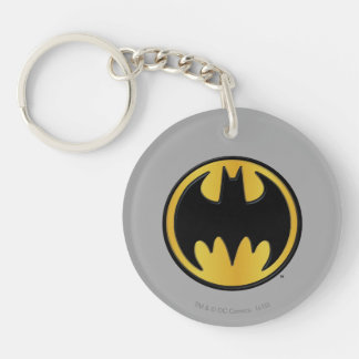 Batman Symbol | Classic Round Logo Double-Sided Round Acrylic Key Ring