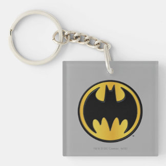 Batman Symbol | Classic Round Logo Double-Sided Square Acrylic Key Ring