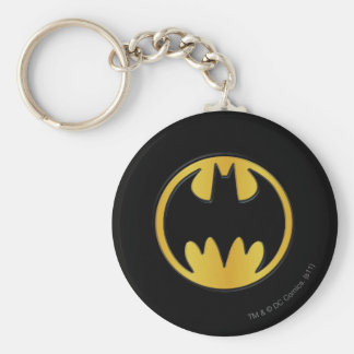 Batman Symbol | Classic Round Logo Key Ring