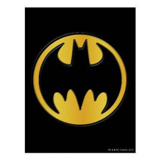 Batman Symbol   Classic Round Logo Postcard