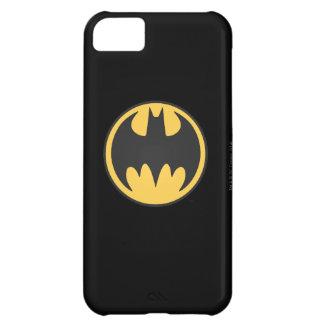 Batman Symbol | Dark Yellow Circle Logo iPhone 5C Case