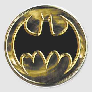 Batman Symbol | Gold Logo Classic Round Sticker