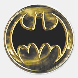 Batman Symbol | Gold Logo Classic Round Sticker