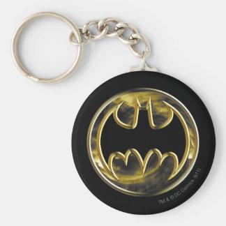 Batman Symbol | Gold Logo Key Ring