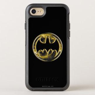 Batman Symbol   Gold Logo OtterBox Symmetry iPhone 8/7 Case