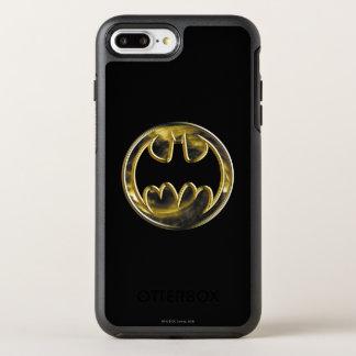 Batman Symbol   Gold Logo OtterBox Symmetry iPhone 8 Plus/7 Plus Case
