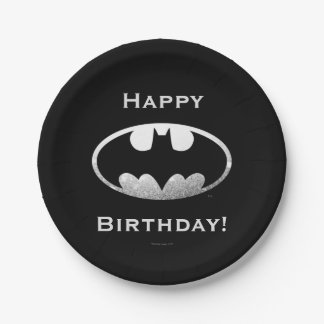 Batman Symbol   Grainy Logo 7 Inch Paper Plate