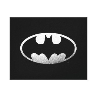 Batman Symbol | Grainy Logo Canvas Print