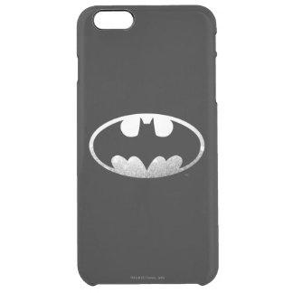 Batman Symbol | Grainy Logo Clear iPhone 6 Plus Case