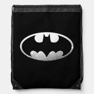 Batman Symbol | Grainy Logo Drawstring Bag