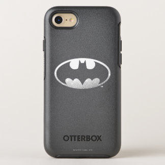 Batman Symbol | Grainy Logo OtterBox Symmetry iPhone 8/7 Case