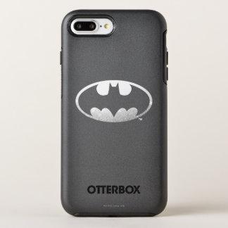 Batman Symbol   Grainy Logo OtterBox Symmetry iPhone 8 Plus/7 Plus Case