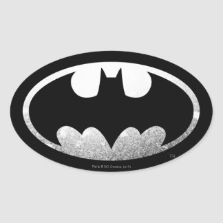Batman Symbol | Grainy Logo Oval Sticker