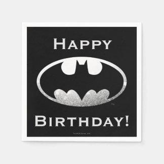 Batman Symbol   Grainy Logo Paper Serviettes