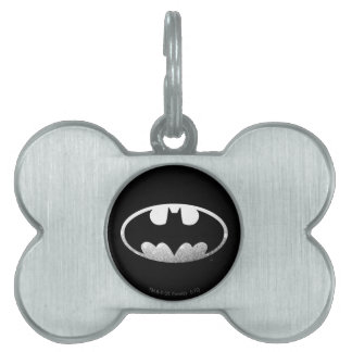 Batman Symbol | Grainy Logo Pet Name Tag