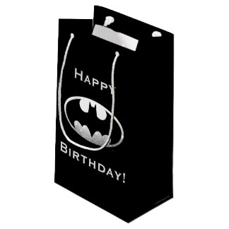 Batman Symbol | Grainy Logo Small Gift Bag