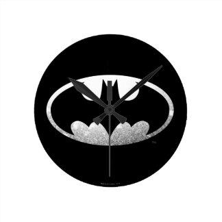 Batman Symbol | Grainy Logo Wall Clocks