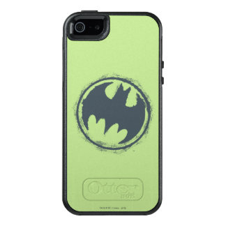 Batman Symbol | Gray Grunge Logo 2 OtterBox iPhone 5/5s/SE Case