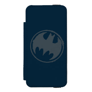 Batman Symbol | Gray Grunge Logo Incipio Watson™ iPhone 5 Wallet Case