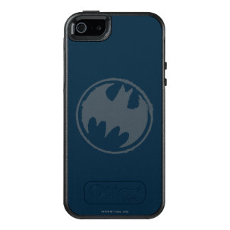 Batman Symbol | Gray Grunge Logo OtterBox iPhone 5/5s/SE Case
