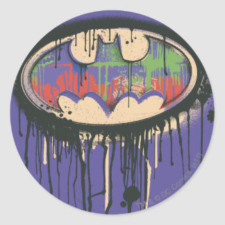 Batman Symbol | Green Purple Red Logo Classic Round Sticker