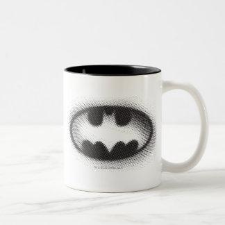 Batman Symbol | Halftone Logo Two-Tone Coffee Mug