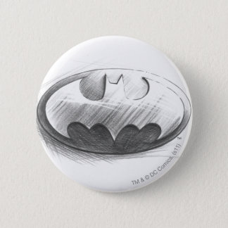 Batman Symbol | Insignia Drawing Logo 6 Cm Round Badge