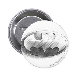 Batman Symbol | Insignia Drawing Logo 6 Cm Round Badge