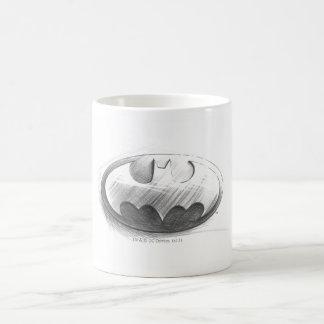Batman Symbol | Insignia Drawing Logo Basic White Mug