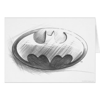 Batman Symbol | Insignia Drawing Logo Greeting Card