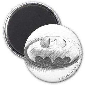 Batman Symbol | Insignia Drawing Logo Magnet