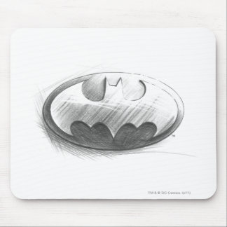 Batman Symbol | Insignia Drawing Logo Mouse Pad
