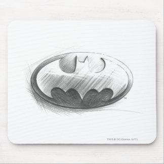 Batman Symbol | Insignia Drawing Logo Mouse Pad
