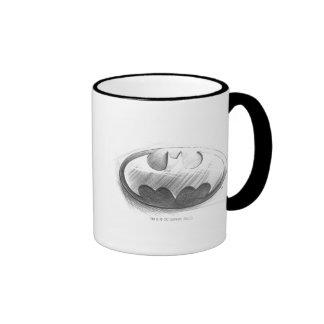 Batman Symbol | Insignia Drawing Logo Ringer Mug