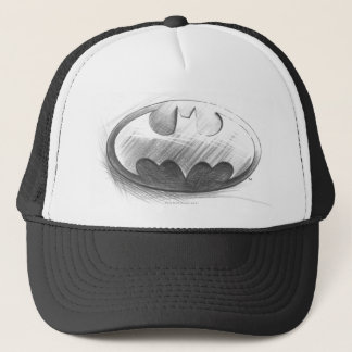 Batman Symbol | Insignia Drawing Logo Trucker Hat