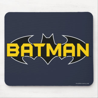 Batman Symbol | Name Yellow & Black Logo Mouse Mat