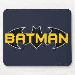 Batman Symbol | Name Yellow & Black Logo Mouse Pad