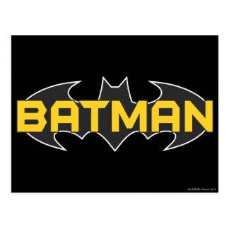 Batman Symbol | Name Yellow & Black Logo Postcard