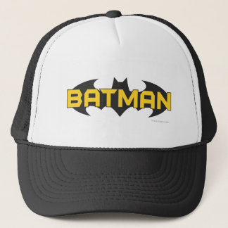Batman Symbol | Name Yellow & Black Logo Trucker Hat