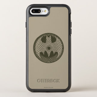 Batman Symbol | Nouveau Circle Logo OtterBox Symmetry iPhone 8 Plus/7 Plus Case
