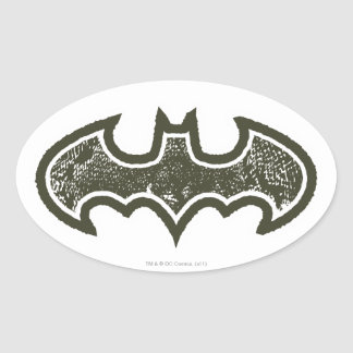 Batman Symbol | Nouveau Logo Oval Sticker