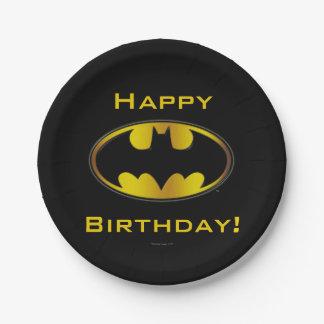 Batman Symbol | Oval Gradient Logo 7 Inch Paper Plate