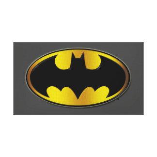 Batman Symbol | Oval Gradient Logo Canvas Print