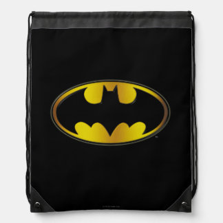Batman Symbol | Oval Gradient Logo Drawstring Bag