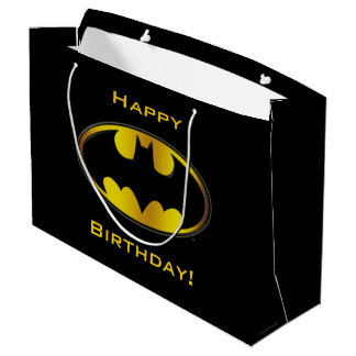 Batman Symbol | Oval Gradient Logo Large Gift Bag